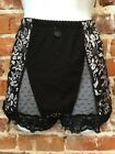 Rhonda Shear Black White Scroll Mesh Dot Pin-Up Retro High Waist Panties New