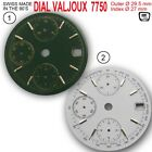 DIAL FIT MOVEMENT ETA VALJOUX 7750, DATE ONLY Ø 29.5 mm,  OLIVE, WHITE