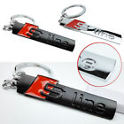 Fashion S Line Alloy Metal Stainlees Steel Car Key Ring Chain for audi A4L A6L