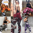 2018 Womens Colorful Trousers Casual Pants Military Army Combat Camouflage Jeans