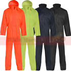 Nylon Waterproof Coverall Overall Boiler Suit Workwear Boilersuit Mens Adults