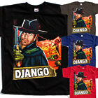 Django V3, movie poster, T SHIRT BLACK NAVY BROWN RED all sizes S to 5XL