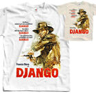 Django V4, movie poster, T SHIRT NATURAL WHITE all sizes S to 5XL