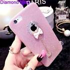 Cute 3D Bowknot For Apple & Samsung Phone Bling Glitter Crystal TPU Case Cover