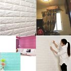 3d Pe Foam Stone Brick Wall Sticker Panel Self-adhesive Waterproof Decal 60x60cm