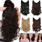 Real Natural as human Hair Extensions No Clips With Fish Line Easy Attach YL62