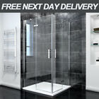 Frameless Corner Entry Shower Enclosure Pivot Hinged Corner Cubicle Screen Door