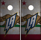 Los Angeles Chargers Cornhole Wrap NFL Cali Bear Skin Game Board Set Vinyl CO16 $39.95 USD on eBay
