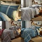 Ludlow Checked Stag Brushed Cotton Flannelette Reversible Duvet Cover Set