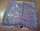 MADAME FANTASY HIGH WAISTED SILVER SEQUIN SHORTS HOT PANTS XS S M L XL XXL XXXL