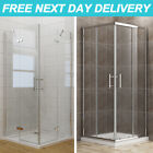 Walk in Corner Entry Frameless Pivot/Sliding Door Shower Enclosure Glass Cubicle