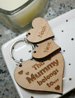 PERSONALISED MOTHERS DAY BIRTHDAY GIFT MUM NAN MUMMY GRANDMA HEART KEYRING