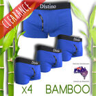 Mens Bamboo Underwear - Distino Men's Boxer Briefs / Trunks / Jocks -4 Pack Deal