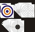 140MM X 140MM CARD SHOOTING PAPER TARGETS AIR RIFLE PRACTICE, pack of 100