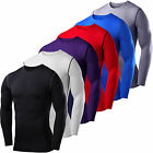 Mens Compression Base Layer Top T-shirt Thermal Long Sleeve Under Shirt Body Tee image