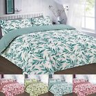 Ellie Reversible Flower Design Duvet Cover Set With Pillowcases All Sizes