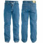 Mens Rockford Carlos Stonewash Blue Denim Jeans Stretch Fit King Size Trousers