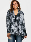 Plus Size XL-5XL New Women Sweater Knit Tops High Low Back Hollow Out Cardigan