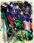 Statue of Liberty Art, USA Canvas, American Flag painting, Patriotic Decor