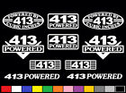 10 DECAL SET 413 CI V8 POWERED ENGINE STICKERS EMBLEMS VINYL DECALS