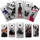 Slim Clear Tokyo Ghoul Kaneki Painted Phone Case Cover For Samsung S6/7E S8 Plus