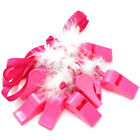 Hen Party Do Hen Night Novelty Fluffy Feather Plastic Pink Whistle Necklace