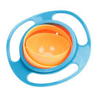 Food-grade PP Baby Kid Feeding Dish Gyro Bowl 360 Rotate No-spill Training Bowl