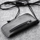 Honor cover sleeve purse case black leather mini bag with strap and zippers