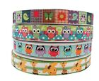 12m of 22mm wide Arts Crafts Cartoon Grosgrain Party Ribbon Owl Flower Giraffe