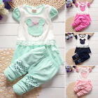 Clothing 12m~4y Baby Infant Cotton Girls Kids Suits Outfits Sets Clothes Lovely
