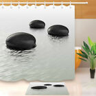 Waterproof Black Stones in the Spa tranquil Shower Curtain Bathroom Decor Mat