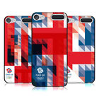 TEAM GB BRITISH OLYMPIC GEOMETRIC UNION JACK BLACK GEL CASE FOR APPLE iPOD TOUCH
