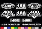 10 DECAL SET 488 CI V10 POWERED 8.0 TRUCK ENGINE FENDER STICKERS EMBLEMS BADGES