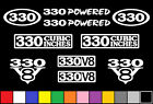 330 CI V8 POWERED 10 DECAL SET 5.4 ENGINE STICKERS EMBLEMS FENDER BADGE DECALS