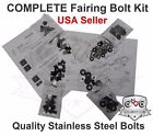 Partial or Complete Fairings Bolt Kit Black or Steel for Ducati 749 999 03-06