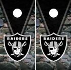 Oakland Raiders Cornhole Wrap NFL Rocks Game Board Skin Set Vinyl Decal CO103 $39.95 USD on eBay