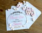 Personalised Wedding Sweet / Sweetie - Candy Cart Favour Bags - Sweet Thankyou