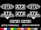 10 DECAL SET 272 CI V8 POWERED ENGINE STICKERS EMBLEMS Y-BLOCK VINYL DECALS