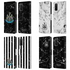 NEWCASTLE UNITED FC NUFC 2017/18 MARBLE LEATHER BOOK CASE FOR SAMSUNG PHONES 1