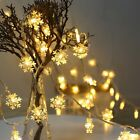 30 LED String Lights Snowflake Battery Operated Waterproof Room Christmas Decor