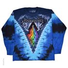 New PINK FLOYD Prism River Long Sleeve Tie Dye T Shirt