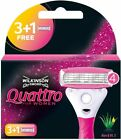 Wilkinson Sword Quattro For Women Razor Blades - 3, 6, 9, or 12, Blades