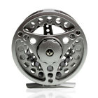 Fly Reels &Spools Large Arbor Fishing Aluminum Frame and Spool Silver/Black 2018