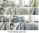 Premium Quality Lightweight Embroidered Paisley Printed 3 Piece Quilt Set