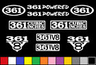 361 V8 POWERED 10 DECAL SET TRUCK ENGINE STICKERS EMBLEMS FENDER BADGE DECALS