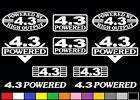 10 DECAL SET 4.3 L V6 POWERED ENGINE STICKERS EMBLEMS 262 CI VINYL DECALS S10