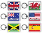World Flags - Any Country Flag - Custom - Personalised Keyring / Bag Tag - Gift