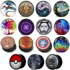 Screw Fit Picture Ear Plug, Acrylic Expander Stretcher Logo Image Flesh Tunnel