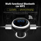 Bluetooth 4.2 FM Transmitter Car Wireless MP3 TF Radio Adapter USB Charger Kit