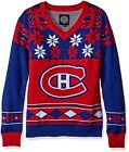 Montreal Canadiens NHL Ugly Christmas Womens V Neck Sweater